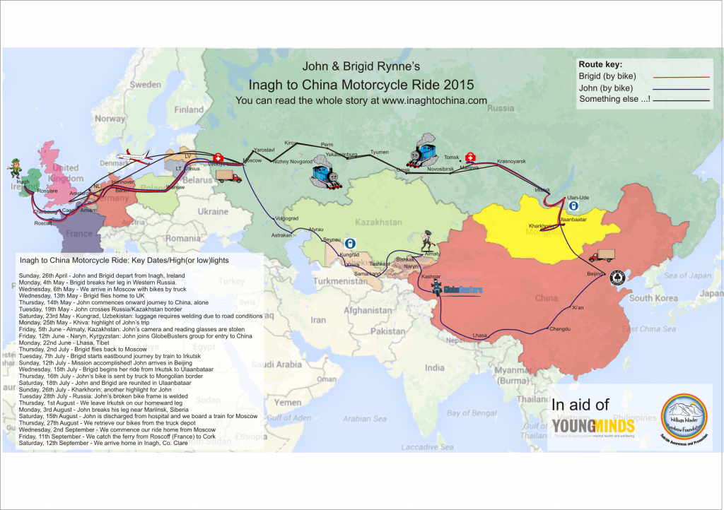 Inagh to China Motorcycle Ride 2015